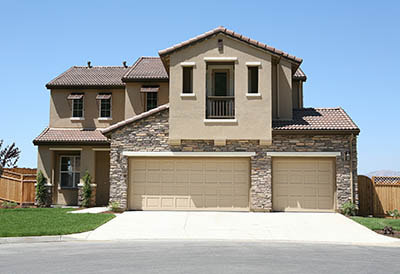 beautiful three car stucco home
